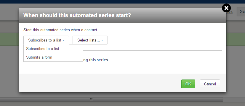 automated series start